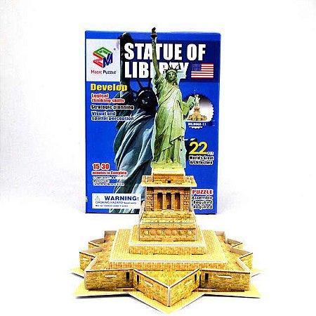 Quebra-cabeça 3d Estátua da Liberdade - USA