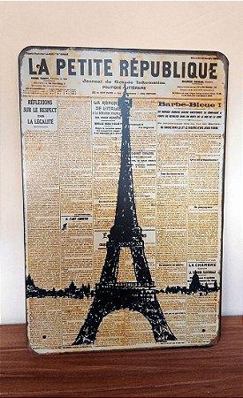 Placa de Metal Retrô La Petite République