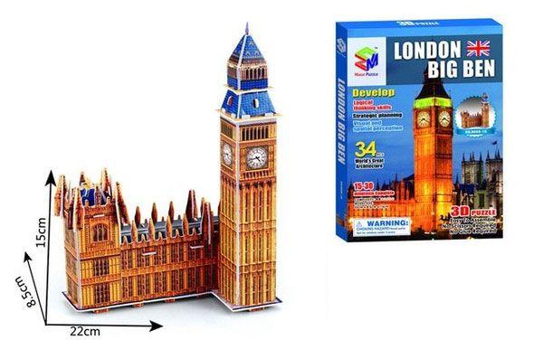 Quebra-cabeça 3d Big Ben - Londres