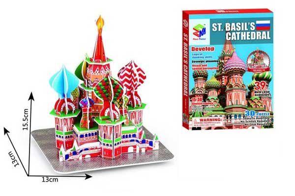Quebra-cabeça 3d Catedral Ortodoxa St. Basil - Rússia