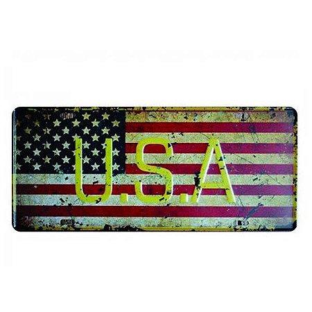 Placa Decorativa de Carro em MDF - USA