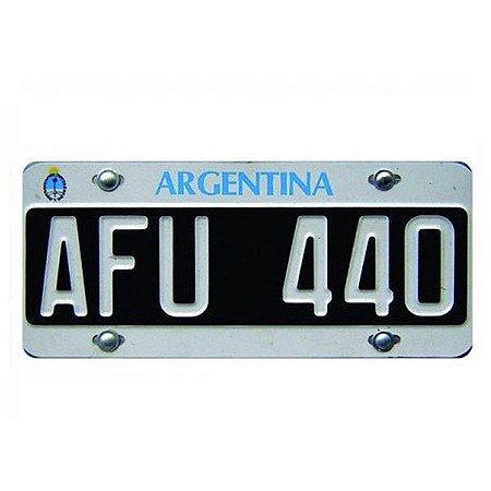 Placa Decorativa de Carro em MDF - Argentina