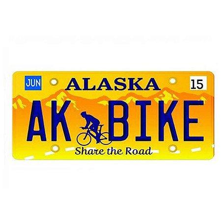 Placa Decorativa de Carro em MDF - Alaska Bike