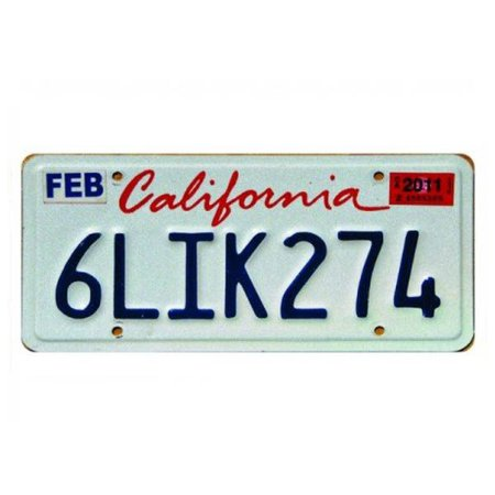 Placa Decorativa de Carro em MDF - California