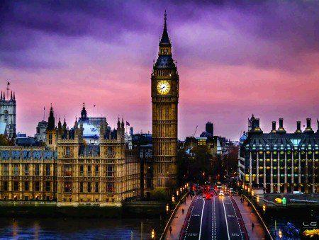 Placa Decorativa em MDF - Big Ben Londres