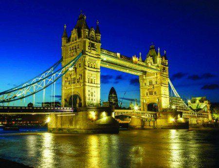 Placa Decorativa em MDF - Tower Bridge Londres