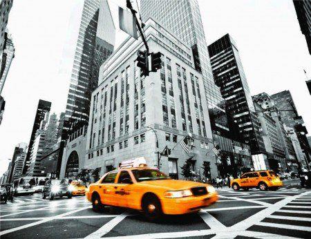 Placa Decorativa em MDF - Táxi Nova York