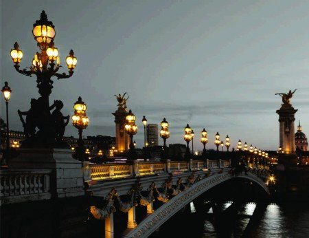 Placa Decorativa em MDF - Ponte de Luzes Paris