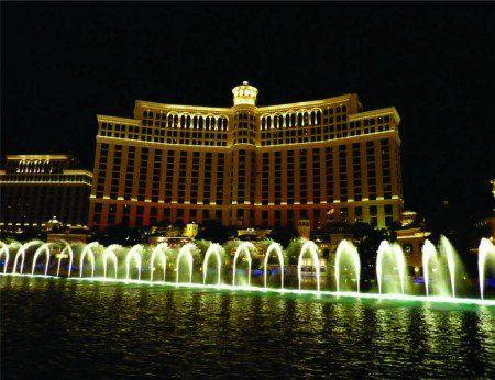 Placa Decorativa em MDF - Bellagio Hotel Casino Las Vegas