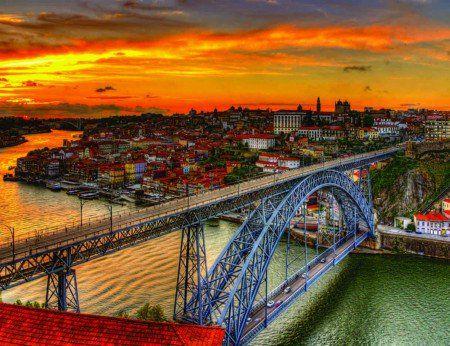 Placa Decorativa em MDF - Cidade do Porto Portugal