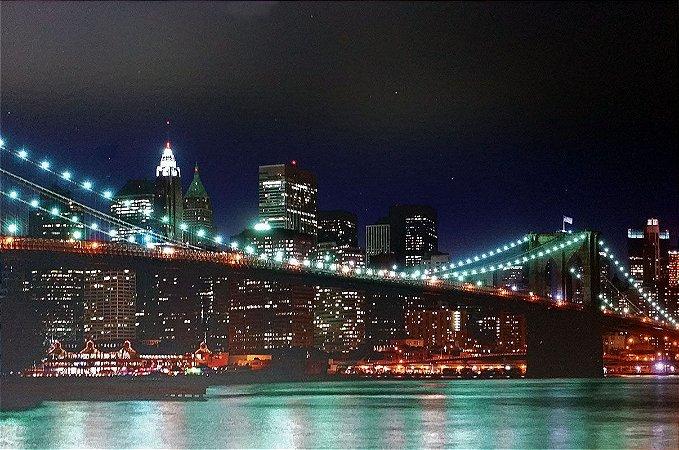 Placa Decorativa em MDF - Ponte do Brooklyn Nova York