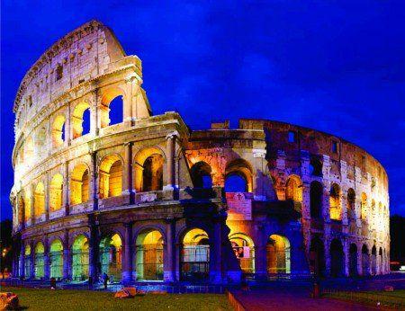 Placa Decorativa em MDF - Coliseu Itália 30x40cm