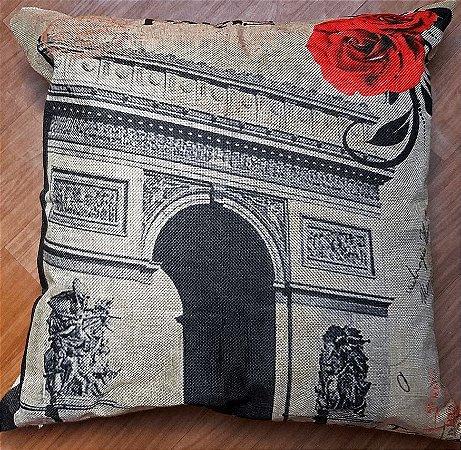 Capa de almofada Linho - Paris