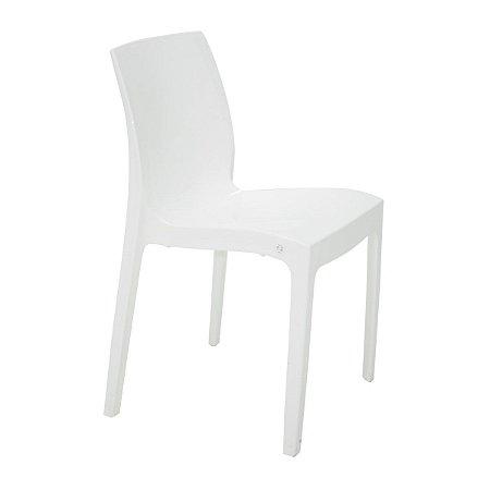 Cadeira sem Braços Polido Branco Alice Tramontina 92037010