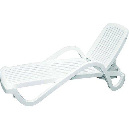 Espreguiçadeira Plástica Copacabana Branca Tramontina 92257010