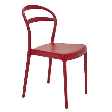 Cadeira de Encosto Vazado Sissi Vermelha Tramontina 92047040