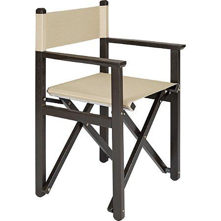 Cadeira de Diretor Dobrável Tabaco e Bege Tramontina 10915084