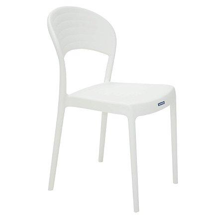 Cadeira de Encosto Fechado Sissi Branca Tramontina 92046010