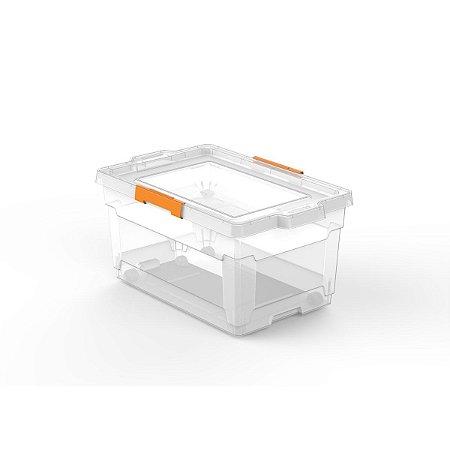 Caixa Organizadora 60L com Rodas Transparente Tramontina 92556011