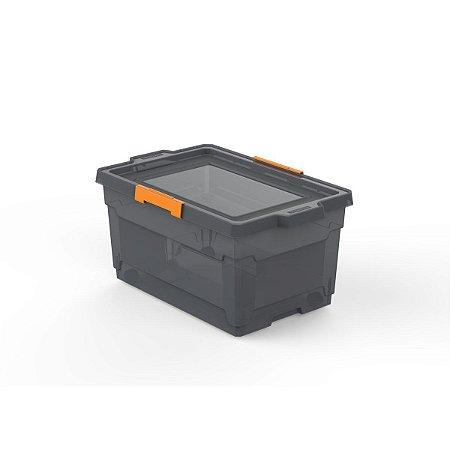 Caixa Organizadora 60L com Rodas Fumê Tramontina 92556012