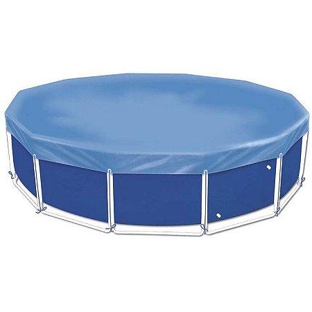 Capa Protetora Para Piscina Mor 1407 Circular 5500 L Azul