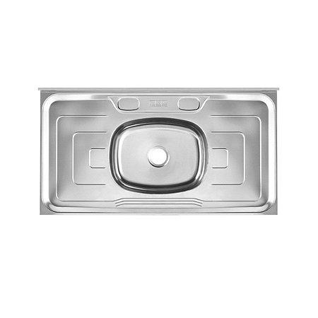 Pia de Cozinha Inox Metal Brilhante Cinza Franke 100cm