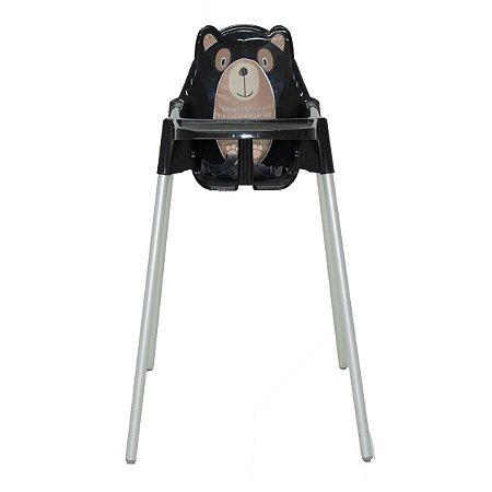 Cadeira Alta de Refeição Teddy Preta Tramontina 92370009