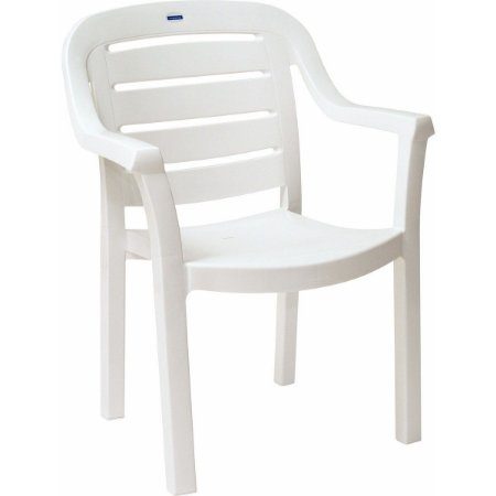 Cadeira Encosto Horizontal Miami Branco Tramontina 92238010