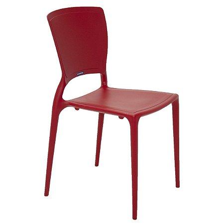 Cadeira Encosto Vertical Fechado Sofia Summa Vermelho Tramontina 92236040