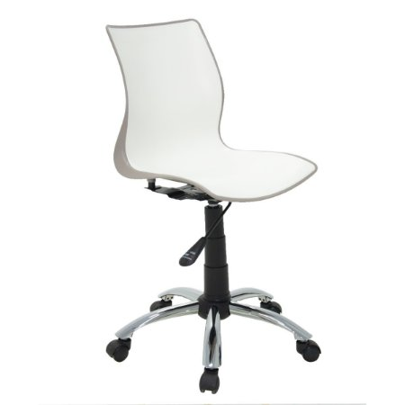 Cadeira com Rodizio Maja Camurça/Branca Tramontina 92073210