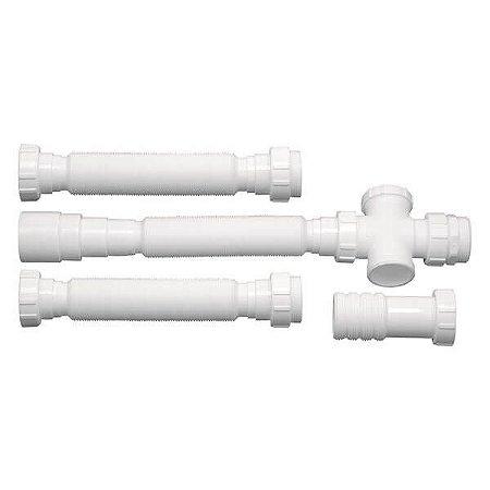 Sifão Triplo Tubo Extensivo Branco Franke 14859