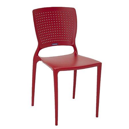 Cadeira Safira Vermelha Tramontina 92048040