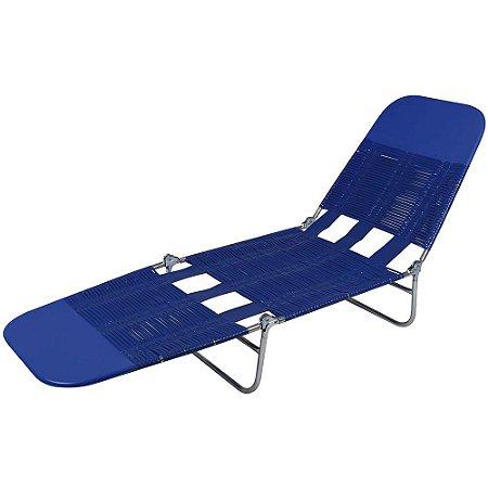 Cadeira Espreguiçadeira PVC Azul