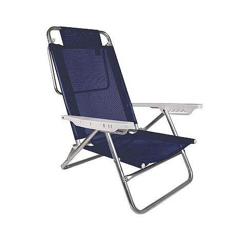 Cadeira de Praia Alumínio Sol de Verão Azul 72,5x57cm