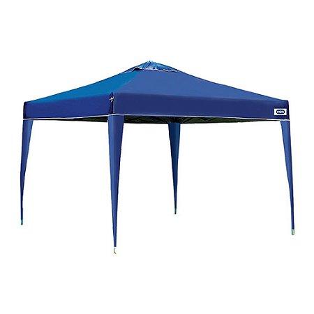 Gazebo Poliéster X-Flex Articulável Azul 2,5x3x3m