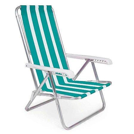 Cadeira Reclinável Alumínio 8 Posições - 2232