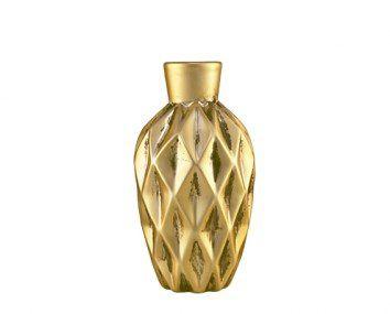 Vaso Dourado Em Ceramica Mart 6983