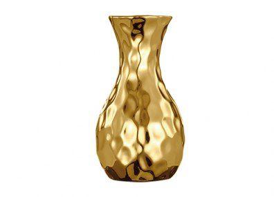 Vaso Dourado Em Ceramica Mart 5635