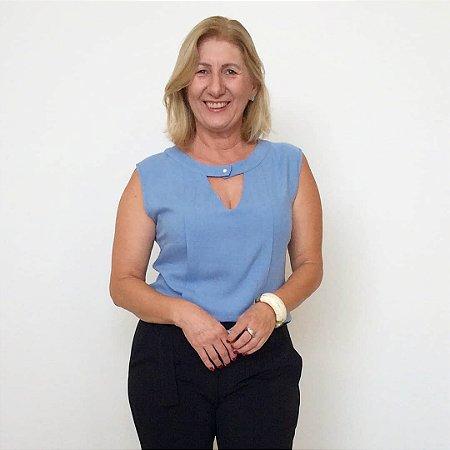 Blusa Botão Pérola