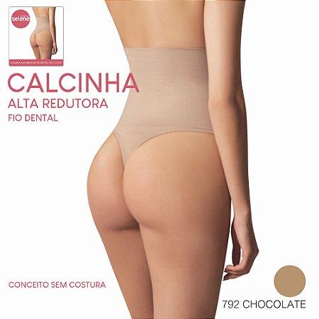 Calcinha Cinta Modeladora Redutora Selene Chocolate