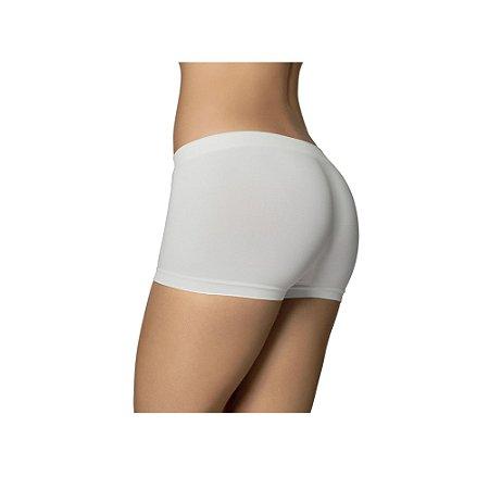 Calcinha Feminina Modelo Boxer Microfibra Selene Branco