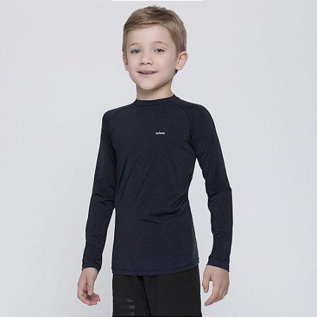Camisa térmica Infantil Proteção Solar Uv 50+ Manga Longa Selene Preto