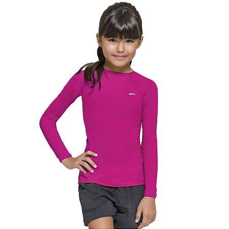Camisa térmica Infantil Proteção Solar Uv 50+ Manga Longa Selene Pink
