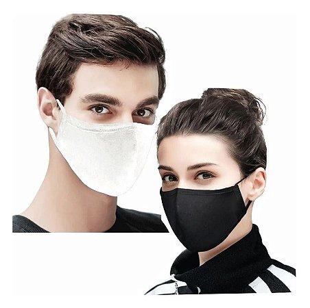 1000 Máscaras De Tecido Duplo Algodão Lavável Não Descartável