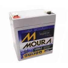 Bateria 12v 5ah Moura Nobreak Sms Apc Original Wp5-12