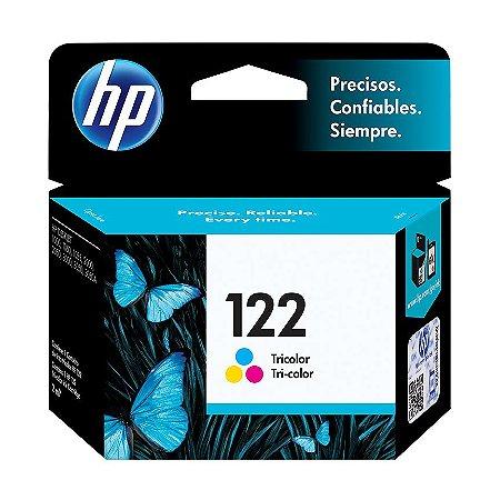 Cartucho HP 122 Colorido Original (CH562HB) Para HP DeskJet 1000, 2050, 3050, 2000