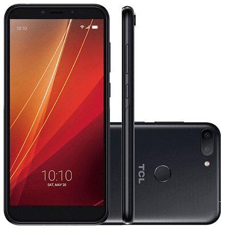 """Smartphone TCL L10 32GB Preto 4G Octa Core - 3GB RAM Tela 5,5"""" Câm. Dupla + Câm. Selfie 8MP"""