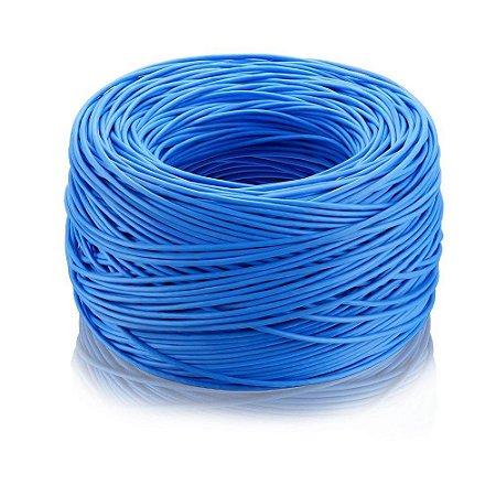 Cabo de Rede Ethernet Lan Rj45 Cat5e Azul 1 Metro