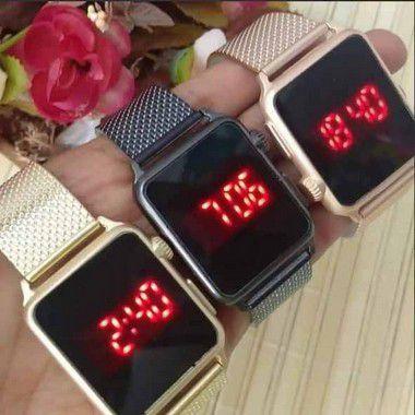 Kit 10 Relógios Femininos Led Quadrados Atacado