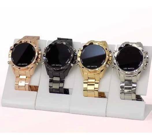 Kit 10 Relógios Femininos Led Redondos Atacado